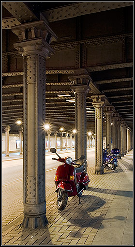 Vespa under the Bridge