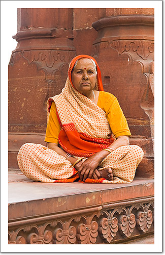Woman in Lal Quila