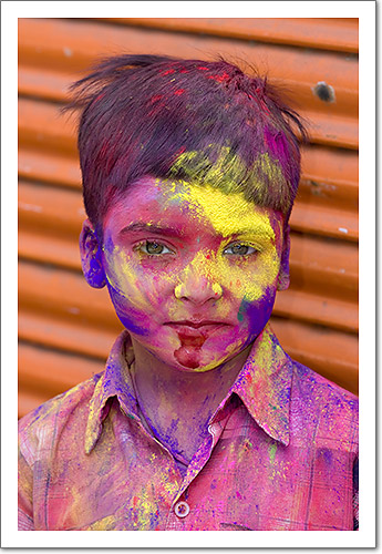 'Holi' Child in Udaipur