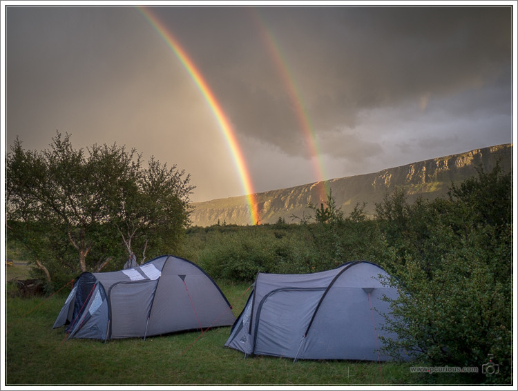Camping in the Icelandic wilderness